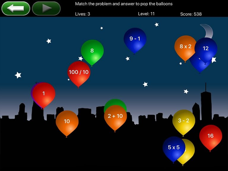 Math Pop Balloons